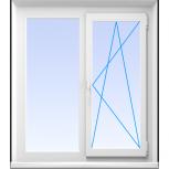 Окна пластиковые двустворчатые профиль алюмин 70мм стеклопакет 24мм, Уфа