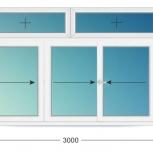 Балкон ПВХ Трехстворчатые профиль алюминиевый 58мм стеклопакет 32мм, Уфа