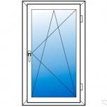Окна пластиковые одностворчатые профиль алюмин 70мм стеклопакет 32мм, Уфа